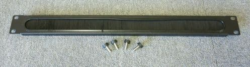 """Rackmount Cable Management Brush Strip Panel 1U 19"""" With Screws OM-3337B-001"""